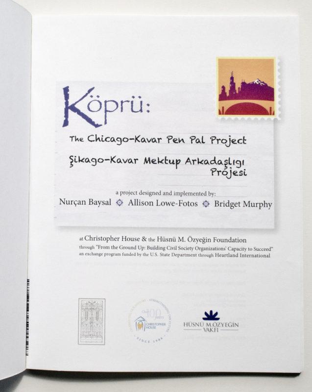 Kopru: Chicago-Kavar Pen Pal Project. Book Design.