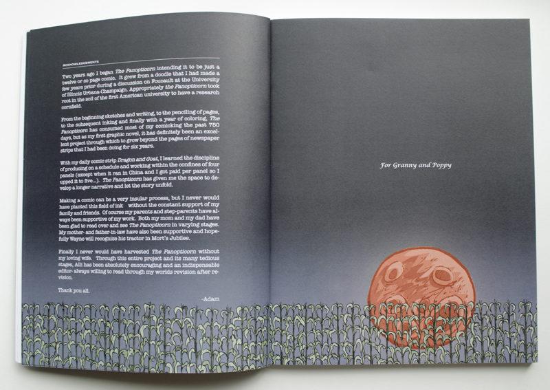 Panopticorn. Book Design. Interior Page Layout.